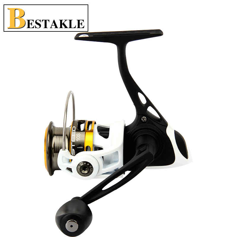 New High Quality STEED10S Shallow Cup Black and White Two Colors Full Metal Body 9 axis Spinning Wheel Lure Reel Fishing Reel free shipping black hawk ecooda second generation metal body spinning reell lure fishing reel fish reel