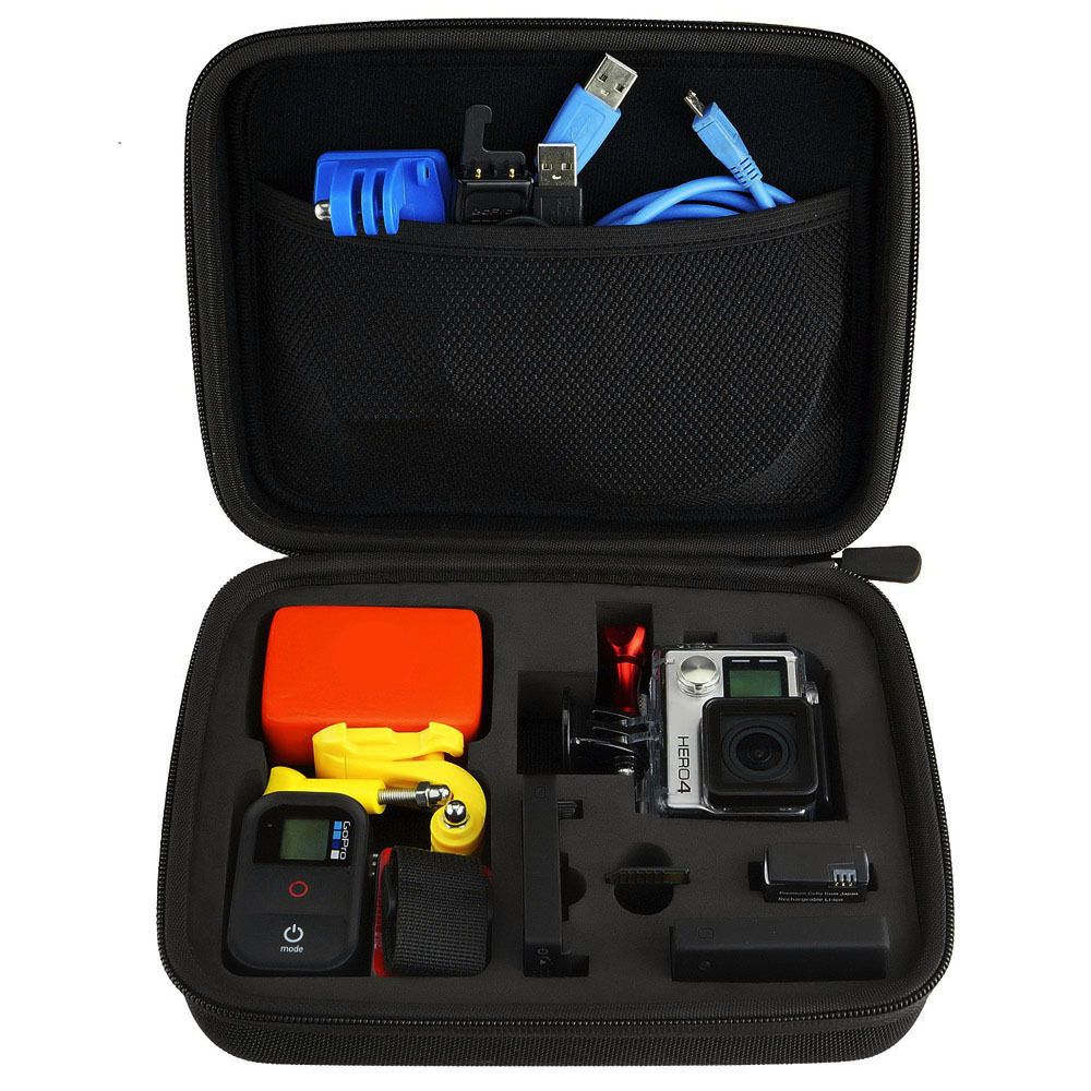 Lightdow Medium Gopro Case Water Resistant Protective EVA Bag Storage