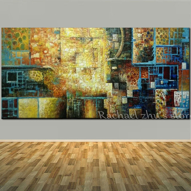 Hand Painted Abstract Art Oil Painting On Canvas Absrtact Wall ...