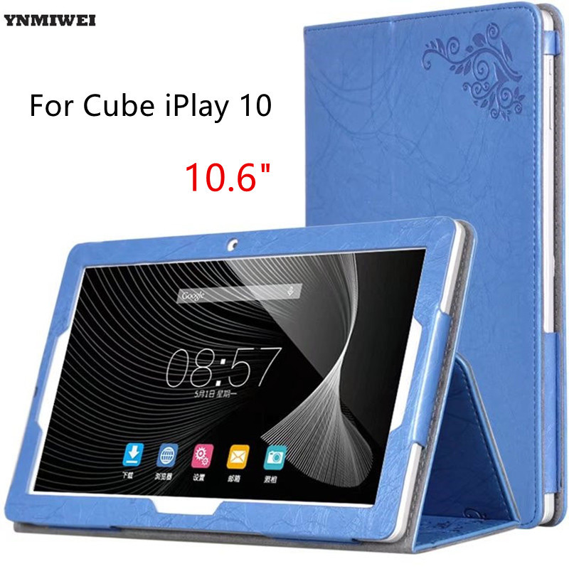 Tablet Case For Cube iPlay 10 Ultra Thin Floral Printing PU Leather Flip Cover For Cube iplay 10 10.6'' Fundas Protective Skin смеситель дл кухни rossinka дл кухни z40 21