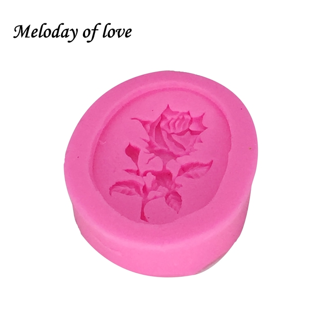 1Pcs DIY Rose Flower Silicone Mold,Sugarcraft Cake Decorating Tools,Fondant Chocolate Molds Cake Mould Soap moulds T1263