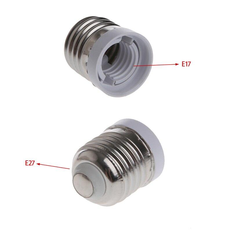 E17 to E27 Socket Base LED Halogen CFL Light Bulb Adapter Converter Holder   M!