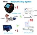 Больница Беспроводной Вызова Медсестры Справочная Система Вызова из 1 Дисплей, 2 Пейджер и 18 Кнопки Вызова Для Пациента Бесплатная Доставка Бесплатная по EMS/DHL