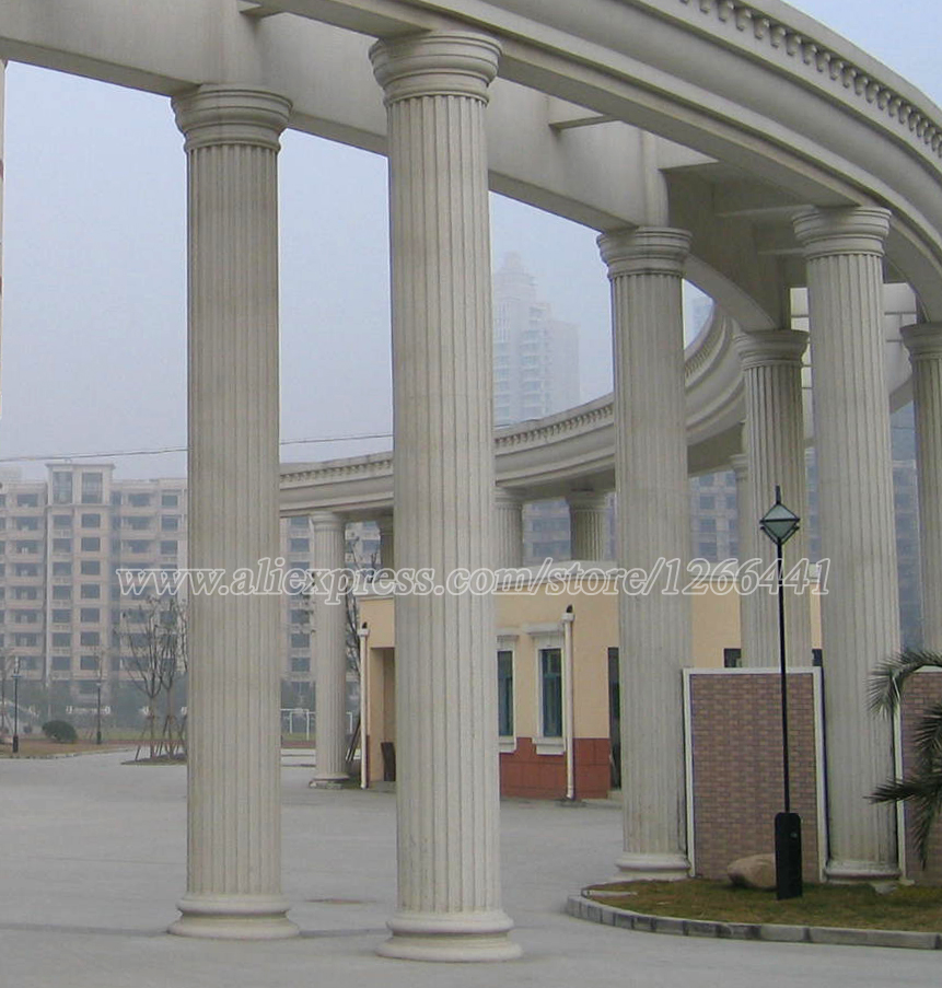 Carved stone roman pillars roman doric style columns for House columns prices