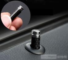 ベンツ AMG CLA 用カースタイリング GLA AMG C E CLS GLK CLK SLK クラス炭素繊維ドアロックスティックピンキャップ車のインテリアアクセサリー