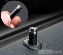 Car Styling For Benz AMG CLA GLA AMG C E CLS GLK CLK SLK Class Carbon Fiber Door Lock Stick Pin Cap Car Interior Accessories