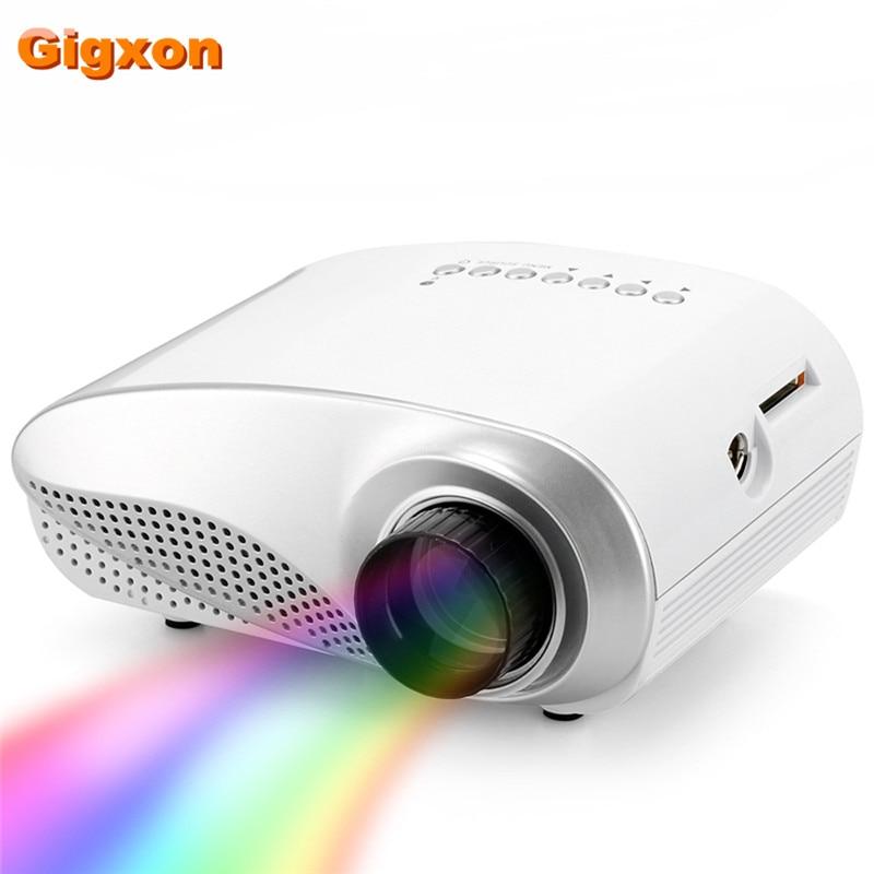 Gigxon - H600 TV LED projector full HD 480*320 video mini projector gigxon g700a android portable mini projector support full hd level 1920x1080pixels 1200 lumens led projector