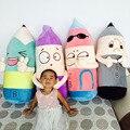 Новая Творческая Личность 2B Карандаш Большая Подушка Плюшевые Игрушки Симпатичные Многие Выражения Карандаш Куклы Подарки Игрушки Для Детей Дети