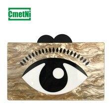 Fashion new acrylic eye clutch bag fashion personality evening lady shoulder diagonal handbag wallet