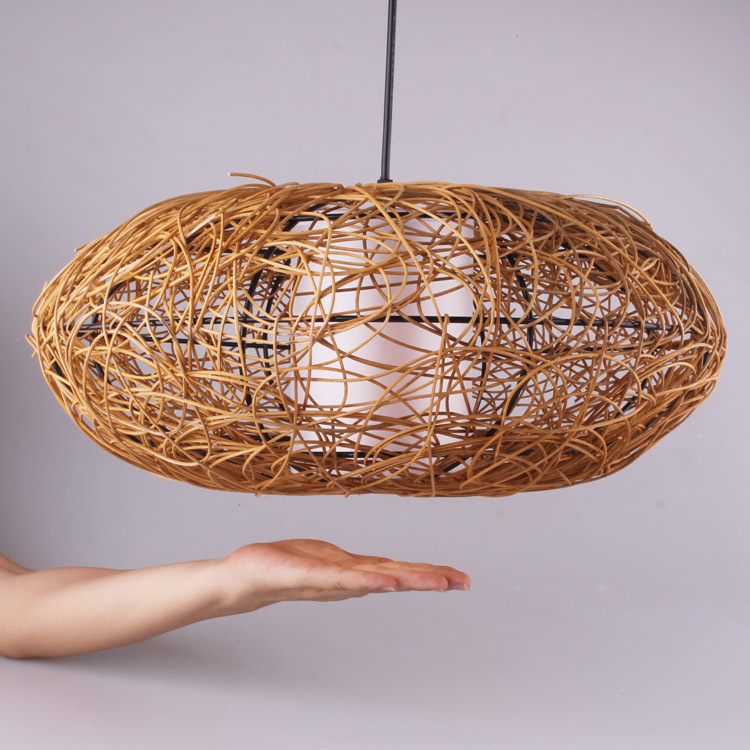 Hand Woven Rattan Wood Shade Chandelier Modern Minimalist Restaurant Ikea Creative Personality 702 On Aliexpress Alibaba Group