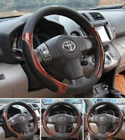 SALE Top Quality PU Leather Car Steering Wheel Covers For 95 Car Styling Kia Rio Skoda