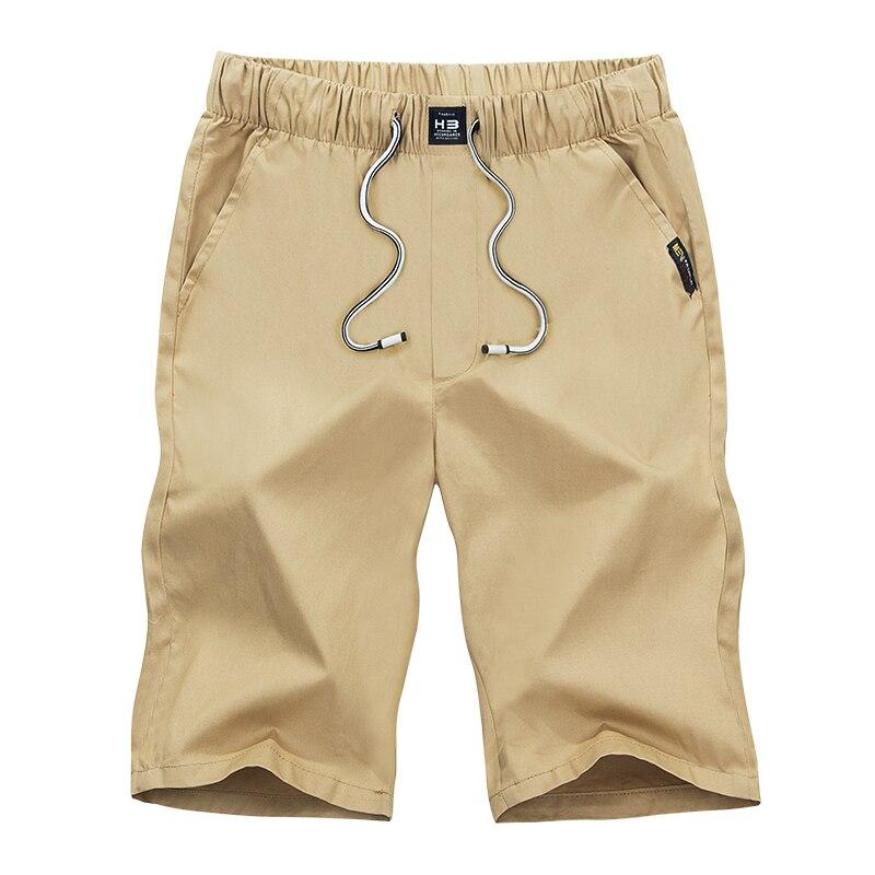 2018 Shorts Men Casual Bermuda Masculina Brand Solid Compression Male Cargo Shorts Men Linen Fashion Summer Men Short 4XL 6195#