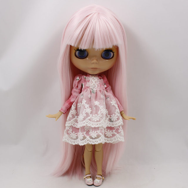 ICY Neo Blythe Doll Pink Straight Hair Jointed Body 30cm