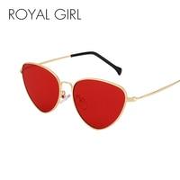 ROYAL GIRL Cat Eye Sunglasses Women 2017 Light Weight Summer Styles Retro Sun Glasses Fashion Red