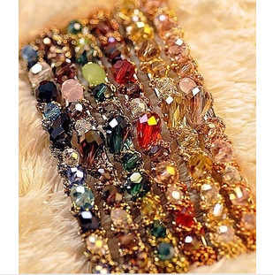 iMucci 1PC Women Girls Elegant Bling Headwear Crystal  6 Color Elastic Hairpin Barrette Hair Clip