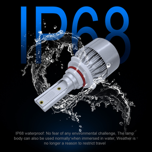Image 4 - roadsun 12000K COB Chips C6 Car Headlight Bulbs LED H7 H4 H1 H11 9005 9006 72W 12V 8000LM Car Styling Spot Lights