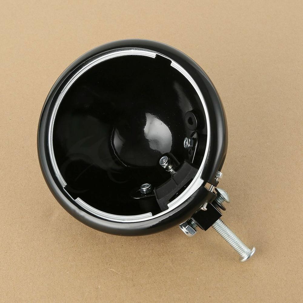 5,75 5 3/4 головной светильник, головной светильник, корпус с монтажным блоком для Harley Dyna Street Bob Fat Bob FXDB FXDF черный/хром