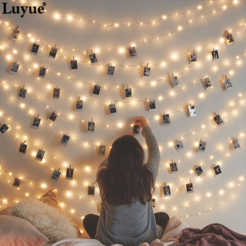 LED Clip Decorative Holiday Lights Celebration Photo Wall Warm Light DIY Holiday for Party Gift gift accessories