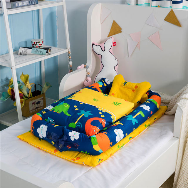 2pcs/3pcs Baby nest bed crib portable removable and washable crib travel bed children's mattress 1