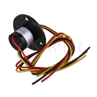 0 500RPM Capsule Slip Ring 3Wires 10A 240VAC DC For Wind Turbine Hat Type