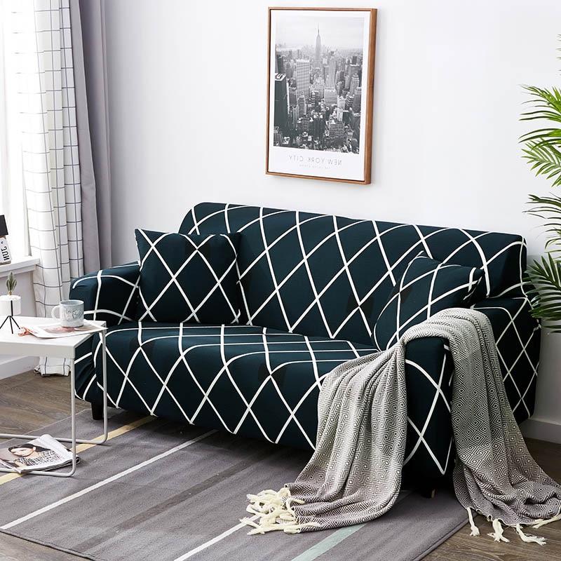 Hartig 24 Kleuren Stretch Sofa Cover Meubels Protector Polyester Loveseat Sectionele Bank Hoes Bank Handdoek Canape Salon 1/2/ 3/4-seater