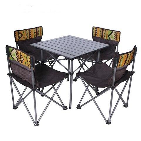 5 em 1 cadeiras mesa de piquenique portatil camping set 4 cadeiras 1 tabela para