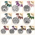 1Pc 5.5cm Round Nail Art Stamping Stamp Template Image Plates Peacock Diamond Flower Grid Nail Stamp Plate Harunouta 01-10
