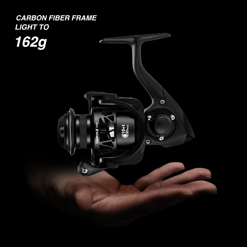Image 2 - Piscifun Carbon X Spinning Reel With Spare 1000 2000 3000 Shallow  4000 Standard Spool 5.2:1 6.2:1 Gear Ratio 11 BB Fishing ReelFishing  Reels