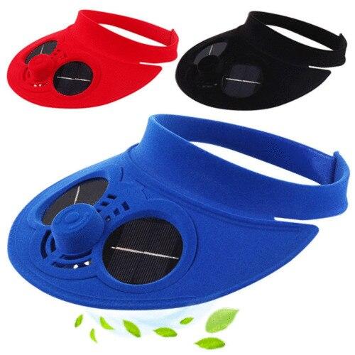 Summer Hat Baseball-Caps Cooling-Fan Gift Solar-Sun-Power Cap With Unisex Women New