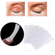 5 folhas 100 pçs branco olho pestana extensão tecidos almofadas adesivos adesivos adesivos fita adesiva maquiagem ferramentas de beleza