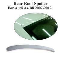 Rear Roof Upper Spoiler Wing Lip Window Sticker For Audi A4 B8 Sedan Non Sline 2009 2012 PU Unpainted Grey