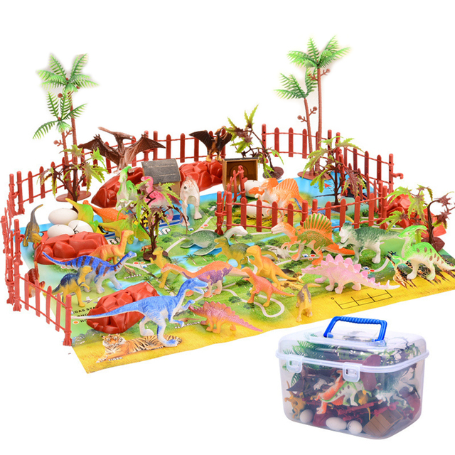 60 Styles Dinosaur Simulation Model Toy Children Early Education Cognition Playset Creative Toys For Boys Children ( 90 Pieces )
