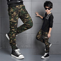 2017 New Spring Teens Jeans For Boy Fashion Children's Elastic Waist Boys Camouflage Baby Boys Jean Kids Casual Denim Long Pants