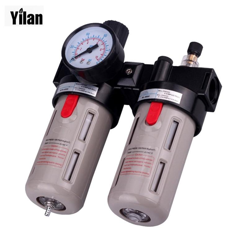 Airtac 1/2'' BFC4000 Air Filter+Regulator BFR4000+Lubricator FLR BL4000