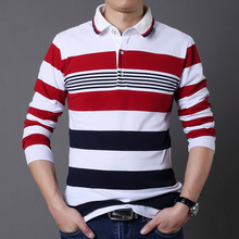 Striped New 2019 Men s Brand Polo Shirt Long Sleeves Casual Spring Autumn Clothes Plus Asian Size M-3XL 4XL 5XL