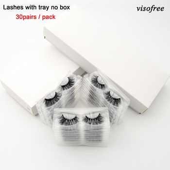 Visofree 30/40/100 Pairs 3D Nerz Wimpern Mit Tablett Keine Box Handgemachte Voll Streifen Wimpern Nerz Falsche Wimpern Make-Up wimpern cilios