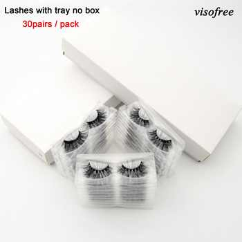 Visofree 30/40 Pairs/lot 3D Mink Lashes With Tray No Box Handmade Full Strip Lashes Mink False Eyelashes Makeup eyelashes cilios - DISCOUNT ITEM  30% OFF All Category
