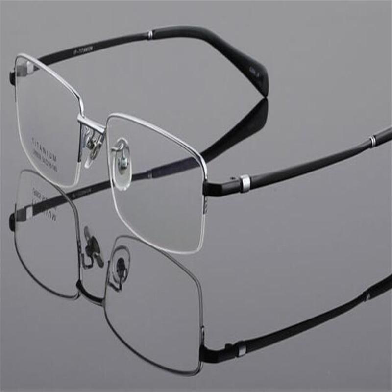 db8e2e7af6 DOWER ME Business Design Men Half Rim Gold Clear Lens For Myopia Optical  Reading Eyewear Eyeglass LB8961