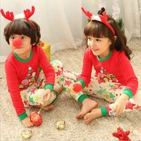 Children Clothes Kids Clothing Set Boys Pajamas Sets Christmas Clothes Nightwear Print Pajamas Girls Sleepwear Baby