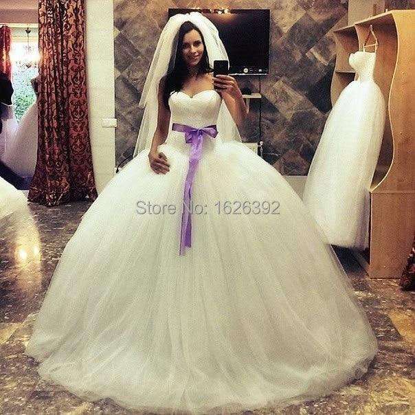 Vestido De Novia Hottest Romantic Long Train Sweetheart Lace Ball ...