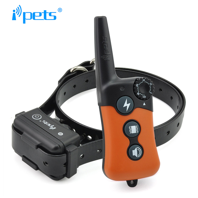 iPets PET619-1 Barking Dog Electric Collar For Dog with Shock 300M Remote Training Collar Barking Dog Collar