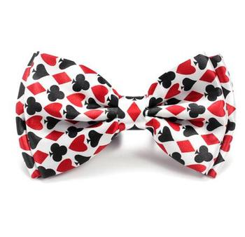 10pcs/lot Gentleman Bow ties Fashion BrandPlaying Card / Poker Red Black Bow tie Men's Unisex Tuxedo Dress Bow Tie Party Tie random flamingos bow tie back circle dress