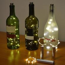 20 светодиодный светильник на батарейках вечерние в форме пробки светильники в форме винных бутылок ночной Декор Рождество Свадьба год светильник гирлянда