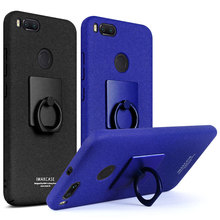 For Xiaomi Mi A1 MiA1 Mi5X Mi 5X Case With screen protector Imak cowboy case with stand Matte Back Cover Finger Ring Holder