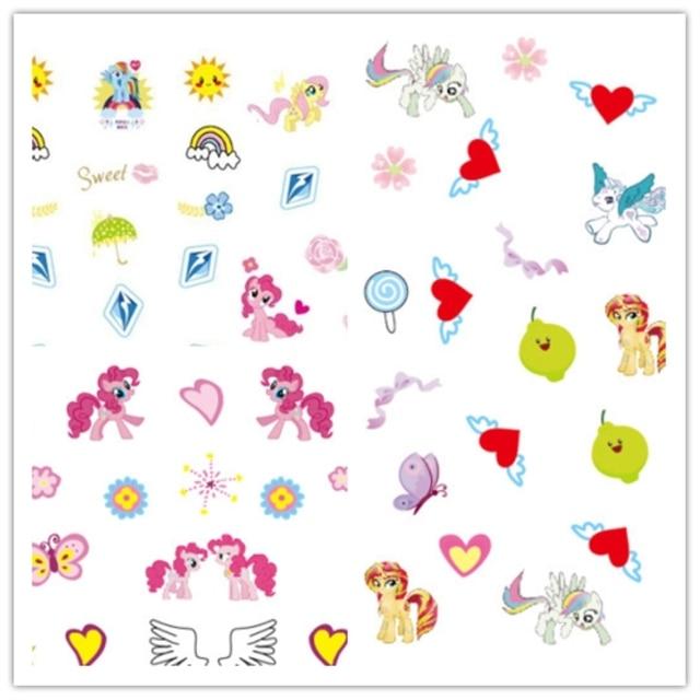 Baby Gift Korea Waterproof Nails Sticker My Little Pony 15 Design Foil Decor