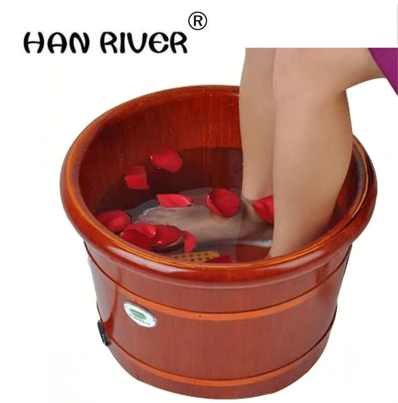 Barrel automatic heating massage foot bath barrels foot massage basin washing footbath deep barrel bubble footbath heat fully automatic household foot massage machine golden deep barrel footbath device foot bath electric heating valuable