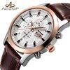AESOP Sport Men Watch Men Sapphire Crystal Quartz Wrist Wristwatch Week Display Leather Male Clock Relogio