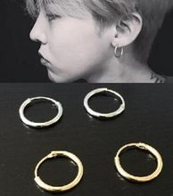 Star With Fashion Personality Circle Earrings, Brass Men And Women Can Wear Earrings Jewelry Wholesale Gold Silver Earings(China)