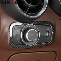 Car Carbon fiber Headlight Switch Frame Cover Stickers Internal Decoration for Alfa Romeo giulia Auto Accessories