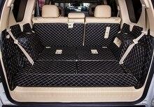 Полный набор материалы ствола + задняя дверь коврик для Toyota Land Cruiser Prado 150 7 мест 2017-2010 грузового лайнера загрузки ковры, бесплатная доставка